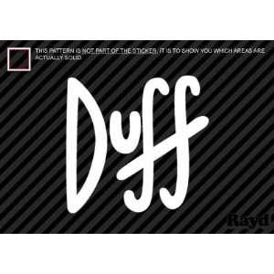 (2x) Duff Beer   Sticker   Decal   Die Cut