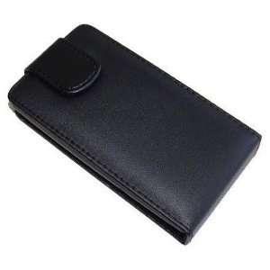 Modern Tech Black PU Leather Flip Case for Sony Ericsson