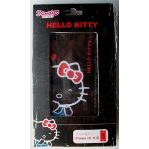 iPhone 4G Hard Cover Case ~Black Hello Kitty~ #6