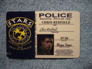 id cards resident evil Chris Redfield Re5