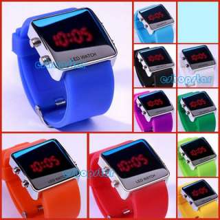Jelly Candy Wrist Watch Sport Style LED Digital Luxury Unisex Blue