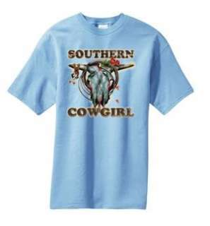 Southern Cowgirl Skull Spurs Rose T Shirt S  6x