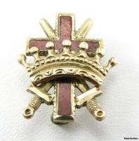 KNIGHTS TEMPLAR 10k Gold Cross Crown Swords Antique 1800s York Rite