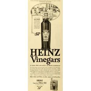 1918 Ad Heinz Olive Oil Pure Malt Vinegar 57 Bottle Production Line