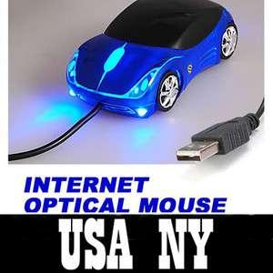 Ergonomic USB 2.0 PC Laptop Optical Mouse LED Car Mice
