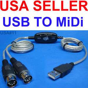 USB MIDI LAPTOP PC KEYBOARD INTERFACE CABLE US SELLER