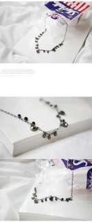 Vintage Attractive Colorful Crystal Short Cute Necklace