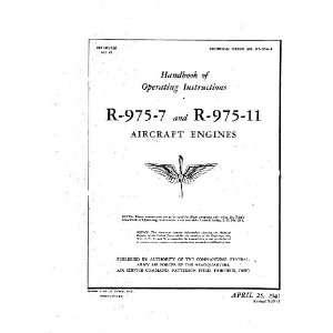 Wright R 975  7  11 Aircraft Engine Operating Manual