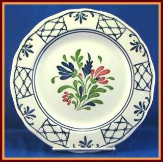 Johnson Bros. Provincial Dinner Plate White Blue Flower