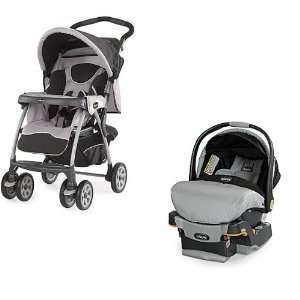 Chicco Cortina Stroller & Key Fit Car Seat in Romantic Baby