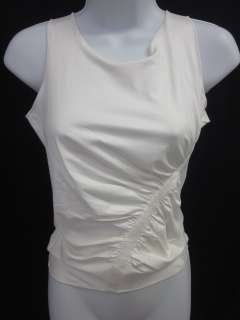 ARMANI COLLEZIONI White Sleeveless Stretch Tank Sz 6