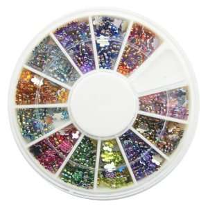 Nail Art MoYou Large(4mm) Flower Shaped Mix colored Rhinestone Pack of