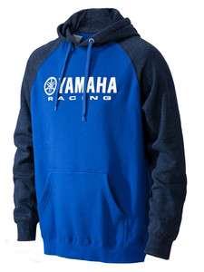 Yamaha Racing Ergo Hooded Sweatshirt Hoody Jacket Blue Navy NEW   ALL