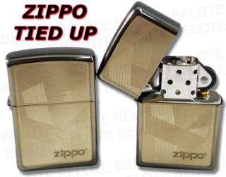 Zippo Lighters Tied Up Logo Black Ice Lighter 24943 NEW