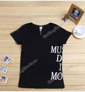 New Ladies Short Sleeve Cotton Casual Tops Blouse T Shirt S,M,L Size