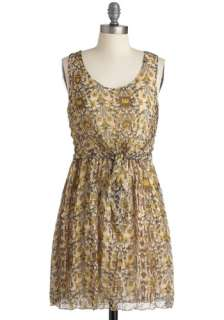 , Sleeveless, Casual, Boho, Yellow, Blue, Brown, Floral, Print, Short