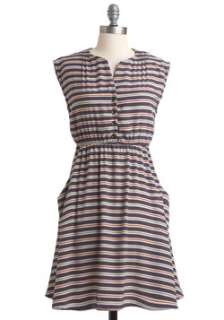 Cap Sleeves Buttoned Dress  Modcloth