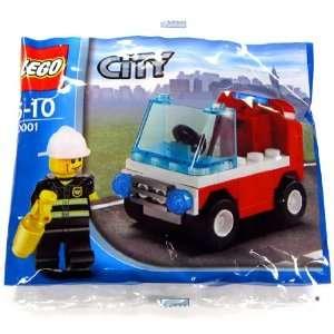 LEGO City Exclusive Mini Figure Set #30001 Firemans Car