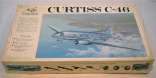 CURTISS C 46 Twin Engine Transport Airplane 1/72 Scale Model Kit