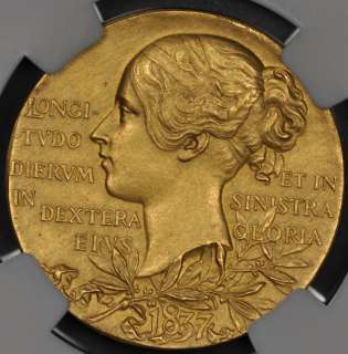 AU58 GREAT BRITAIN GOLD MEDAL VICTORIA DIAMOND JUBILEE BHM 3506