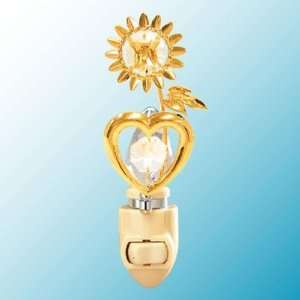 Sunflower Heart 24k Gold/Crystal Night Light Baby