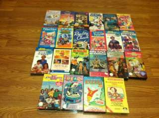 Lot Of 40 Vintage Kids Cartoon VHS Winnie The Pooh~Bugs Bunny~Barney