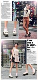 Patent Bowtie Punk Goth High Platform Flat Creeper Shoes #403