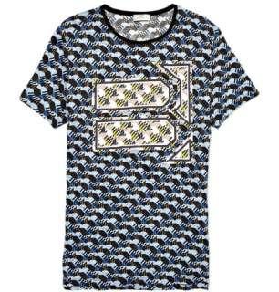 Clothing  T shirts  Crew necks  Graphic Print Cotton T shirt