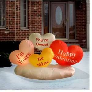 5 FEET INFLATABLE CANDY HEARTS VALENTINES DAY YARD DECOR