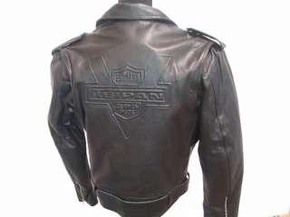 Biker Motorrad Rocker Chopper Lederjacke Leder Retro Motorradjacke