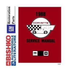 1988 CHEVROLET CORVETTE Shop Service Repair Manual CD Automotive