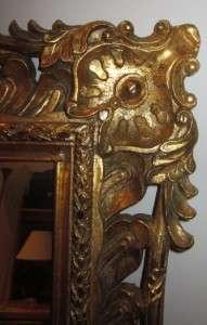Decorative Heavily Carved Gilt Mirror