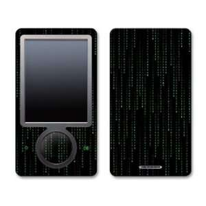 Matrix Style Code Design Zune 30GB Skin Decal Protective