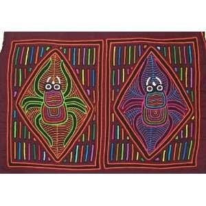 High Quality Pair of Spiders Traditional Kuna Mola