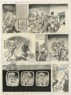 BILL WARD   CRACKED #165 CMPLT 5 PG STORY ART GAME SHOW