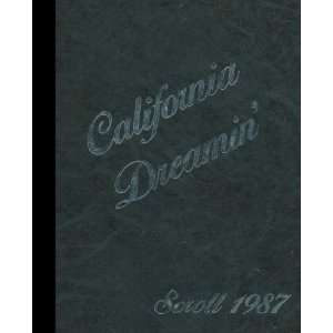 Vista, California Chula Vista High School 1987 Yearbook Staff Books