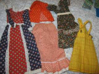 LOT Vintage Handmade Barbie Skipper Ken Doll Clothes 1970s underwear