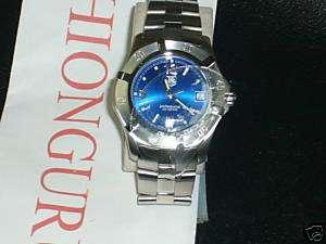 NIB TAG HEUER WN1112BA0332 MEN BLUE DIAL $1250 SALE