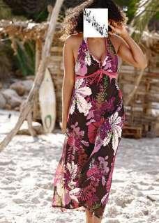 NEU Sommerkleid Sommer Kleid Strandkleid Satin XS+S+M