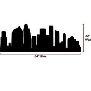 Houston Skyline Silhouette  X Large  Vinyl Wall Decal: Everything Else