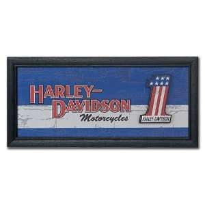 . Distressed Black Wood Frame and Graphic. HDL 15304