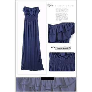 Sexy Strapless Cotton Long Dress  Womens Dresses