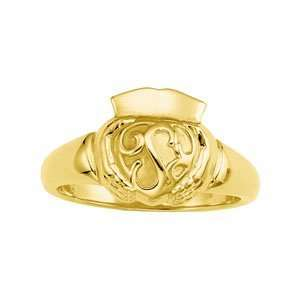 Gents 13.00 MM 14K Yellow Gold Claddagh Ring Jewelry