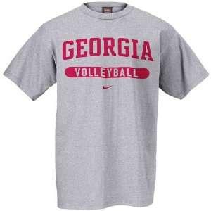 Nike Georgia Bulldogs Ash Volleyball T shirt: Sports