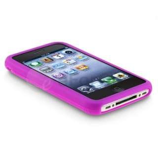 10 Colors Silicone Rubber Skin Case Cover Accessory Bundle For iPhone