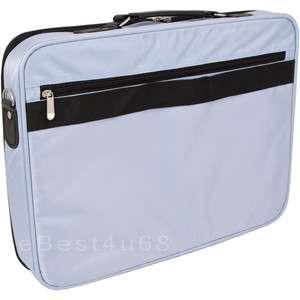 LIGHT BLUE BAG CASE BRIEFCASE NYLON FOR 17.3 in LAPTOPS
