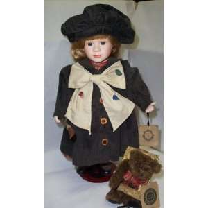 Boyds Bears Doll Anna with Rockwell The Masterpiece #4922