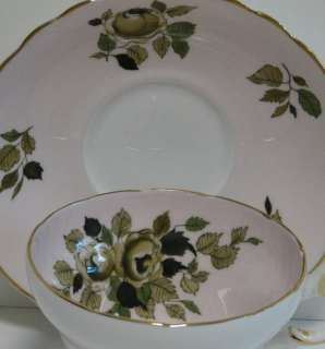 Beautiful Staffordshire Fine Bone China Cup & Saucer Set with Green