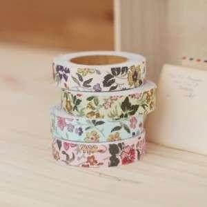 NEW E2 Fabric Adhesive Roll Decor Tape Wild Flower