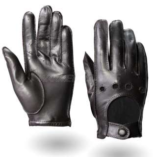 GENUINE Lambskin Leather MOTORCYCLE Bike Racing Driving gloves